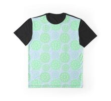 Mandala Flowers in green and blue Graphic T-Shirt