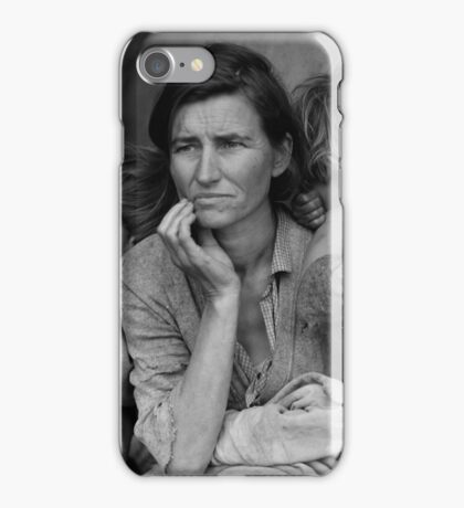 Migrant Mother by Dorothea Lange (1936) iPhone Case/Skin