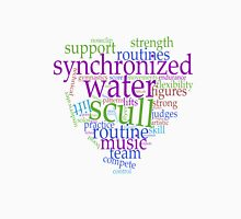 Sychronized Swimming Word Cloud Design Unisex T-Shirt
