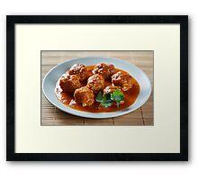 Beef and pork meatballs Framed Print