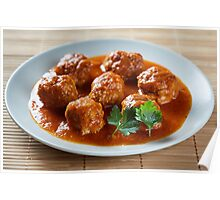 Beef and pork meatballs Poster