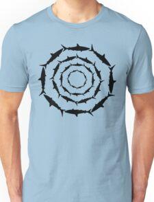 Spiralling Sharks (Black) T-Shirt