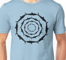 Spiralling Sharks (Black) Unisex T-Shirt