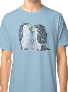 Swirly Penguin Family Classic T-Shirt