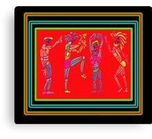 Dance Warriors Earth Dance Tranparent Overlay Canvas Print