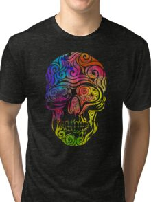 Swirly Skull (Color) Tri-blend T-Shirt
