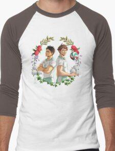 Iwaoi flower crown Men's Baseball ¾ T-Shirt