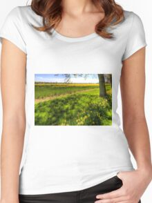 Daffodil Meadow Women's Fitted Scoop T-Shirt