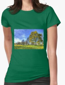 Summer Farm Trees Art Womens Fitted T-Shirt