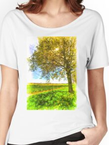 The Daffodil Summer Farm Art Women's Relaxed Fit T-Shirt