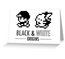 Pokemon Black & White Origins Greeting Card