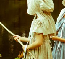 Fishing in Period Clothing at Sturbridge Sticker