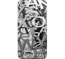 Alphabet Jumble  iPhone Case/Skin