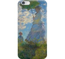 Woman with a Parasol by Claude Monet (1875) iPhone Case/Skin