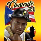 CLEMENTE 21 PR FLAG by William Mendez