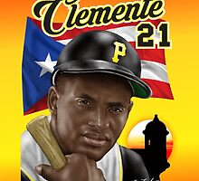 CLEMENTE 21 PR FLAG by William Mendez