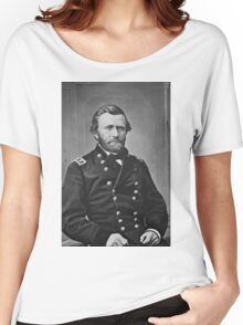 Portrait of Civil War General Ulysses S. Grant Women's Relaxed Fit T-Shirt