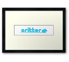 critter (twitter parody) Framed Print