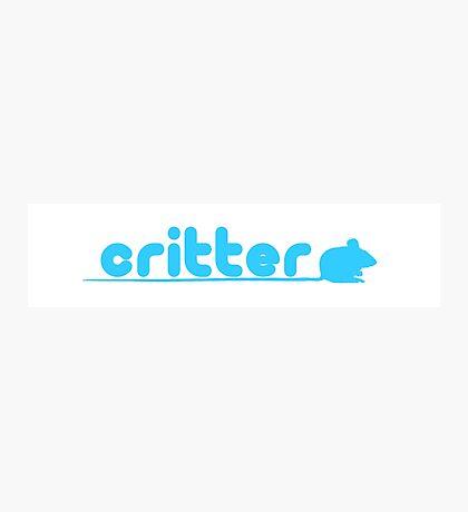 critter (twitter parody) Photographic Print