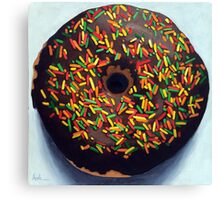 """""""Circle of Love"""" - Realistic Donut food painting Canvas Print"""