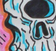 Freedom Skull Sticker