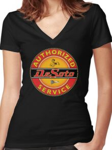Desoto vintage Cars USA Women's Fitted V-Neck T-Shirt