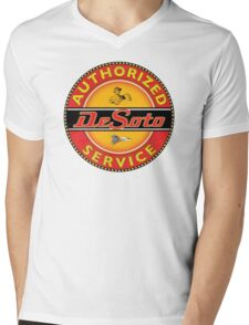 Desoto vintage Cars USA Mens V-Neck T-Shirt