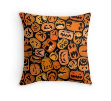 Pumpkin Brawl Throw Pillow