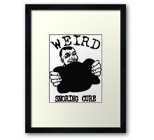 Funny Advertising - Weird Snoring Cure Framed Print