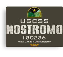 Alien Nostromo logo grunge Canvas Print
