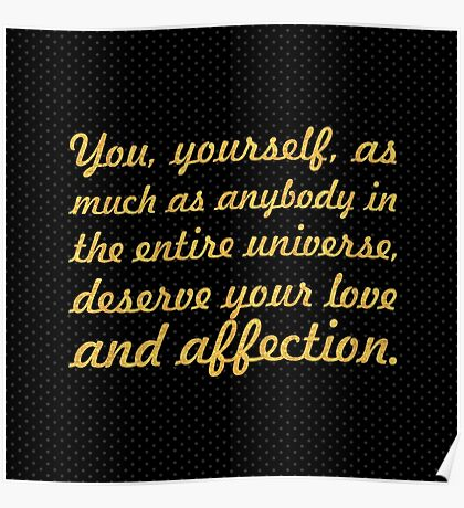 "You yourself... ""Buddha"" Inspirational Quote Poster"