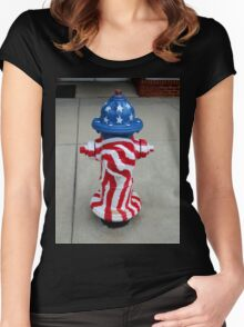 Patriotic Firehydrant I Women's Fitted Scoop T-Shirt