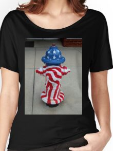 Patriotic Firehydrant I Women's Relaxed Fit T-Shirt