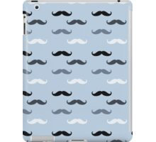 Blue Retro Mustaches iPad Case/Skin