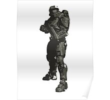 Minimalist Masterchief from Halo Poster