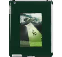 Comical Cow Abduction iPad Case/Skin
