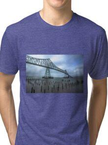 The Astoria–Megler Bridge, Astoria, Oregon Tri-blend T-Shirt