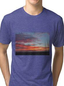 Red Sky Morning Tri-blend T-Shirt