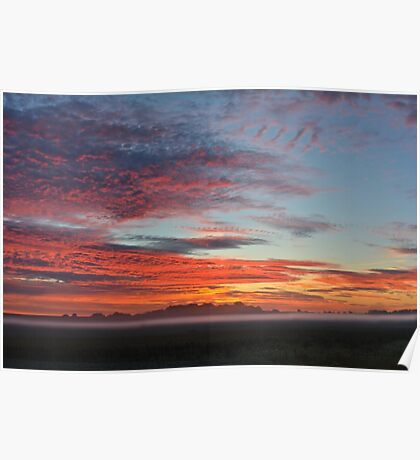 Red Sky Morning Poster