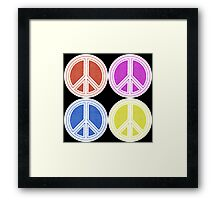 Peace Patch Framed Print