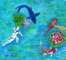 Koi Pond by Linda Ginn Art
