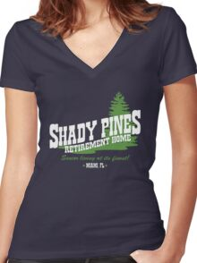 Shady Pines Women's Fitted V-Neck T-Shirt