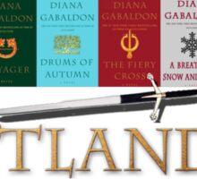 Outlander books with sword Sticker