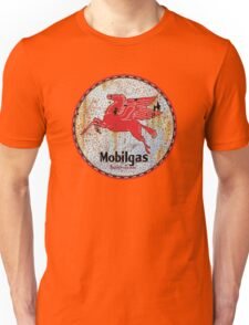 Vintage Mobil Gas and Oil sign rusty as heck. Unisex T-Shirt