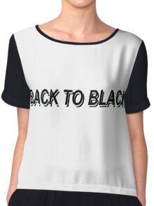 Back to black Chiffon Top