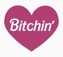 Bitchin' Barbie Pink Heart Design Kids Tee