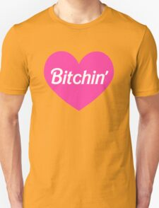 Bitchin' Barbie Pink Heart Design Unisex T-Shirt