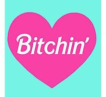 Bitchin' Barbie Pink Heart Design Photographic Print