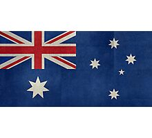 The National flag of Australia, retro textured version (authentic scale 1:2) Photographic Print
