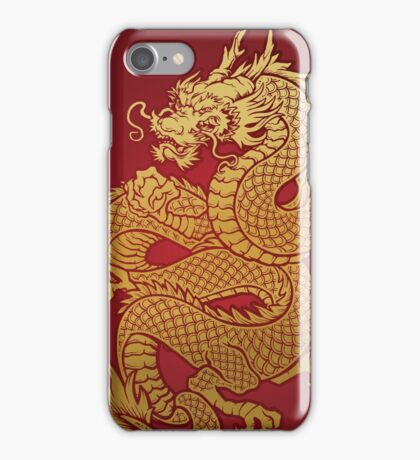 Chinese Golden Dragon iPhone Case/Skin